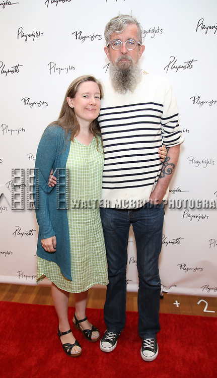 Sarah Ruhl and Les Waters attend the meet & Greet for Playwrights Horizons New York Premiere pf 'For Peter Pan on her 70th Birthday' on July 25, 2017 at the Playwrights Horizons Studios at  in New York City.