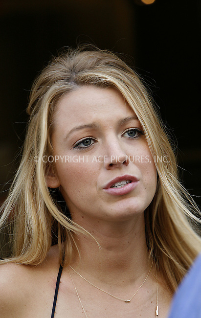 WWW.ACEPIXS.COM ************....July 9 2009, New York City....Actress Blake Lively on the set of the TV show 'Gossip Girl' in Soho on July 9 2009 in New York City......Please byline: NANCY RIVERA -- ACEPIXS.COM.. *** ***  ..Ace Pictures, Inc:  ..tel: (646) 769 0430..e-mail: info@acepixs.com..web: http://www.acepixs.com