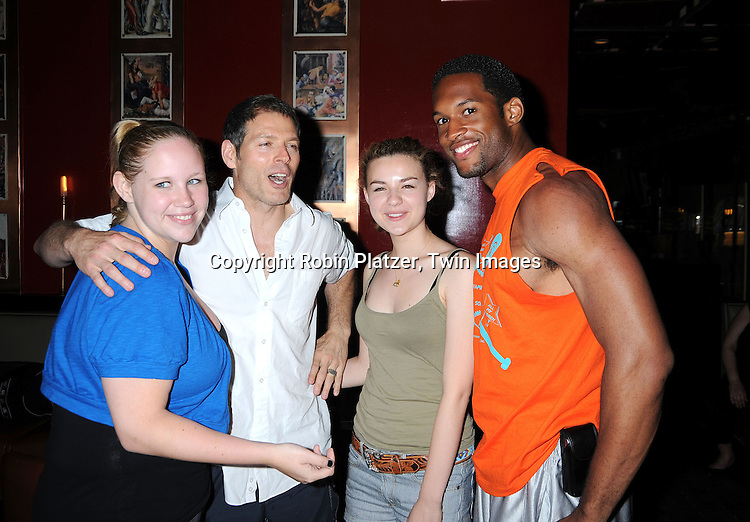 Caitlin Van Zandt,  actress on Guiding Light, Kevin Spiritas, actor on One LIfe to Live, Bonnie Dennison and Lawrence Saint-Victor of Guiding Light..at The Gabriel Project Benefit at Prohibition on Columbus Avenue in New York City on June 7, 2008.....Robin Platzer, Twin Images