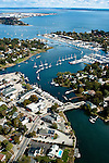 Wickford harbor in North Kingstown, R.I. Aerial images of RI/Narragansett Bay (Photo/Joe Giblin)