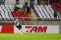 ATENCAO EDITOR: FOTO EMBARGADA PARA VEÍCULOS INTERNACIONAIS. - RIO DE JANEIRO, RJ, 26 DE SETEMBRO DE 2012 - CAMPEONATO BRASILEIRO - FLAMENGO X ATLETICO MG - Ronaldinho Gaucho, jogador do Atletico MG, durante partida contra o Flamengo, pela 14a rodada do Campeonato Brasileiro, no Stadium Rio (Engenhao), na cidade do Rio de Janeiro, nesta quarta, 26. FOTO BRUNO TURANO BRAZIL PHOTO PRESS