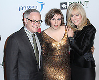 NEW YORK CITY, NY, USA - APRIL 07: Neal Baer, Lena Dunham, Judith Light at the Point Honors New York Gala 2014 held at the New York Public Library on April 7, 2014 in New York City, New York, United States. (Photo by Jeffery Duran/Celebrity Monitor)