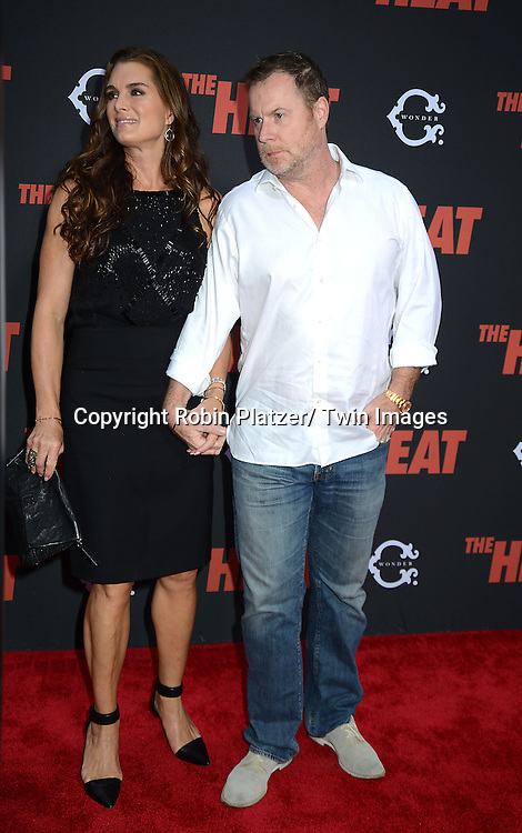 "Brooke Shields and husband Chris Henchy attend the New York Premiere of ""The Heat"" on June 23,2013 at the Ziegfeld Theatre in New York City. The movie stars Sandra Bullock, Melissa McCarthy, Demian Bichir, Marlon Wayans, Joey McIntyre, Jessica Chaffin, Jamie Denbo, Nate Corddry, Steve Bannos, Spoken Reasons and Adam Ray."