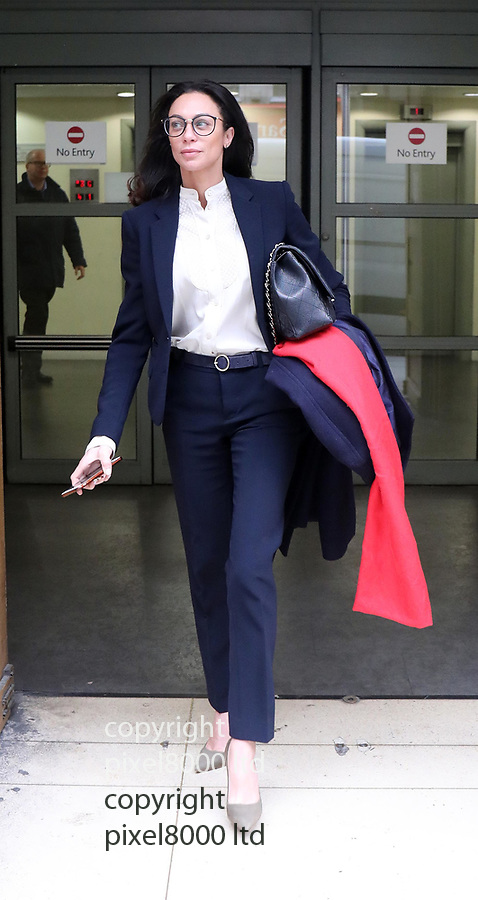 Pic shows:  Boris Becker leaves Family Division of the High Court in London today.<br /> <br /> <br /> <br /> Also his ex wife Lilly Kerssenberg left by a separate door to a waiting Merceds<br /> <br /> <br /> <br /> <br /> pic by Gavin Rodgers/Pixel8000