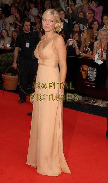 KATE THORNTON.Arrivals at the Pioneer British Academy Television Awards 2006 at the Grosvenor House Hotel, London, UK..May 7th, 2006 .Ref: CAN.BAFTA TV.full length beige dress.www.capitalpictures.com.sales@capitalpictures.com.©Capital Pictures