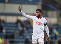 Andre Blackman of Crawley Town during the Sky Bet League 2 match between Wycombe Wanderers and Crawley Town at Adams Park, High Wycombe, England on 25 February 2017. Photo by Andy Rowland / PRiME Media Images.