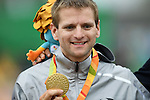Steffen Warias (GER), <br /> SEPTEMBER 16, 2016 - Cycling - Road : <br /> Men's Road Race C1-2-3 Medal Ceremony <br /> at Pontal <br /> during the Rio 2016 Paralympic Games in Rio de Janeiro, Brazil.<br /> (Photo by AFLO SPORT)