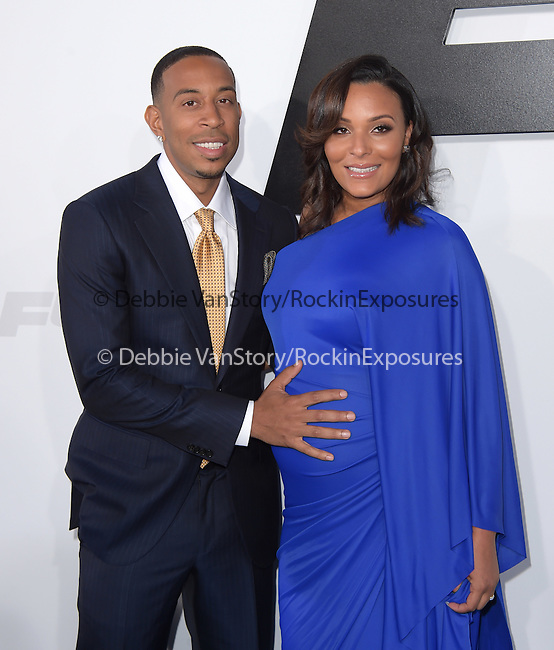 Chris Ludacris Bridges and Eudoxie Mbouguiengue attends The Universal Pictures World Premiere of Furious 7 held at The TCL Chinese Theatre IMAX Theater  in Hollywood, California on April 01,2015                                                                               © 2015 Hollywood Press Agency