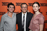 David Greif, Michael Greif and Hannah Greif attends the Opening Night performance of 'A Parallelogram'  at The Second Stage Theatre on August 2, 2017 in New York City.