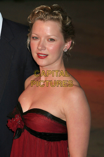 GRETCHEN MOL.2006 Vanity Fair Oscar Party held at Morton's, West Hollywood, California, USA, 05 March 2006..oscars half length black and red strapless dress.Ref: ADM/RE.www.capitalpictures.com.sales@capitalpictures.com.©Russ Elliot/AdMedia/Capital Pictures.