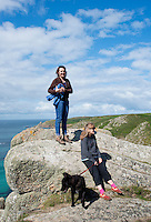 Charlotte and Margie. Porthcurno, Cornwall, England