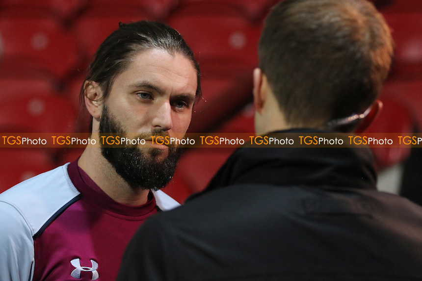 Aston Villa's Henri Lansbury, a recent signing from Nottingham Forest, is interviewed by Sky Sports pre-match during Brentford vs Aston Villa, Sky Bet EFL Championship Football at Griffin Park on 31st January 2017