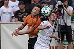 12.07.2017, Sportplatz, Zell am Ziller, AUT, TL Werder Bremen 2017 - FSP Werder Bremen (GER) vs Wolverhampton Wanderers (ENG), <br /> <br /> im Bild<br /> Bright Enobakhare (Wolverhampton Wanderers #3)<br /> Fin Bartels (Werder Bremen #22)<br /> <br /> Foto &copy; nordphoto / Kokenge