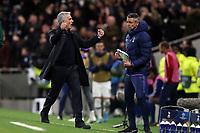 Tottenham Hotspur manager Jose Mourinho celebrates his teams fourth goal during Tottenham Hotspur vs Olympiacos FC, UEFA Champions League Football at Tottenham Hotspur Stadium on 26th November 2019