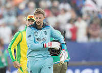 Joe Root (England) saw England home by 8 wickets during Australia vs England, ICC World Cup Semi-Final Cricket at Edgbaston Stadium on 11th July 2019