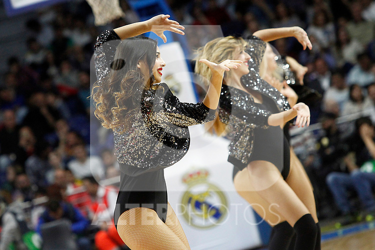 Real Madrid's cheerleaders during Euroleague, Regular Season, Round 29 match. March 31, 2017. (ALTERPHOTOS/Acero)