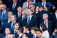 Spanish King Felipe during the match of  Copa del Rey (King's Cup) Final between Deportivo Alaves and FC Barcelona at Vicente Calderon Stadium in Madrid, May 27, 2017. Spain.. (ALTERPHOTOS/Rodrigo Jimenez) /NortePhoto.com