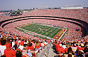 Kansas City Chiefs Arrowhead Stadium overall from the 1994 season.  Arrowhead Stadium opened in 1972 and has been the home of the Kansas City Chiefs since.