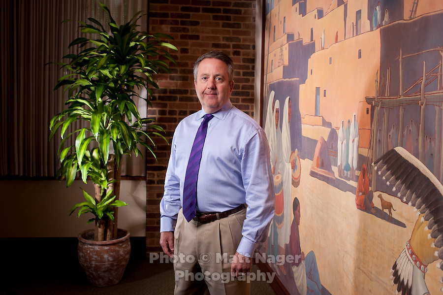 Chairman and Chief Operating Officer of Burlington Northern Santa Fe Corp. Matt Rose (cq) in his office at the BNSF headquarters in Fort Worth, Texas, Thursday, March 31, 2011. .Photo by Matt Nager
