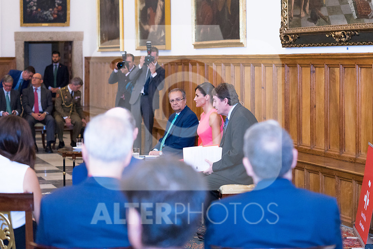 Queen Letizia of Spain during the meeting with Directors of Instituto Cervantes in Escorial Monastery.  July 23, 2019. (ALTERPHOTOS/Francis Gonzalez)