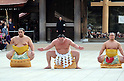New year sumo ceremony at Meiji Shrine