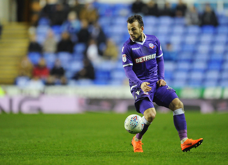 Bolton Wanderers' Adam Le Fondre<br /> <br /> Photographer Kevin Barnes/CameraSport<br /> <br /> The EFL Sky Bet Championship - Reading v Bolton Wanderers - Tuesday 6th March 2018 - Madejski Stadium - Reading<br /> <br /> World Copyright &copy; 2018 CameraSport. All rights reserved. 43 Linden Ave. Countesthorpe. Leicester. England. LE8 5PG - Tel: +44 (0) 116 277 4147 - admin@camerasport.com - www.camerasport.com