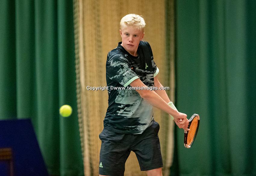 Wateringen, The Netherlands, December 8,  2019, De Rhijenhof , NOJK juniors 14 and18 years, Finals 14 years: Lars Wagenaar (NED)<br /> Photo: www.tennisimages.com/Henk Koster