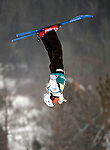 16 January 2009:  Naoya Tabara of Japan performs aerial acrobatics during the FIS Freestyle World Cup warm-ups at the Olympic Ski Jumping Facility in Lake Placid, NY, USA. Mandatory Photo Credit: Ed Wolfstein Photo. Contact: Ed Wolfstein, Burlington, Vermont, USA. Telephone 802-864-8334. e-mail: ed@wolfstein.net
