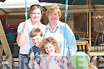 SWING: Taking a break from the hussle and bustle of the Kerry Homes and Garden Show at Dan Spring Road, Tralee, on Saturday were Jessica and Gary Stevenson, Elaine O'Donnell and Aileen Foley..