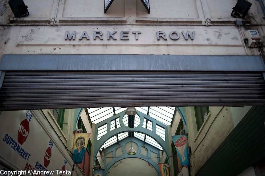 UK. London. 17th July 2010.One of the entrances to Brixton market..©Andrew Testa for the New York Times