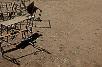 School desk in disuse lie  in the compound of the Cluster resource Center of Lafaissa, Somali Region, Ethiopia on Monday November 9 2009. .The Lafaissa facility is supported by the British non governmental organization Save the Children UK..