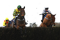 Findusatgorcombe ridden by Bryony Frost (l) in The Weatherbys Racing Bank Silver Buck Handicap Chase during Horse Racing at Wincanton Racecourse on 5th December 2019