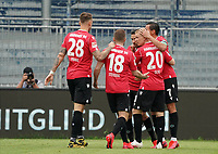 celebrate the goal, Torjubel zum 1:1 Ausgleich von Edgar Prib (Hannover 96) mit Genki Haraguchi (Hannover 96)<br /> <br /> - 14.06.2020: Fussball 2. Bundesliga, Saison 19/20, Spieltag 31, SV Darmstadt 98 - Hannover 96, emonline, emspor, <br /> <br /> Foto: Marc Schueler/Sportpics.de<br /> Nur für journalistische Zwecke. Only for editorial use. (DFL/DFB REGULATIONS PROHIBIT ANY USE OF PHOTOGRAPHS as IMAGE SEQUENCES and/or QUASI-VIDEO)