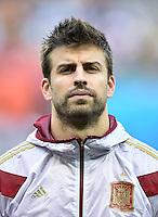 FUSSBALL WM 2014  VORRUNDE    Gruppe B     Spanien - Niederlande                13.06.2014 Gerard Pique  (Spanien)