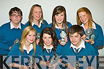 Pictured at The Mercy Mounthawk Transition Year Awards night held in The Siamsa Tire on Friday night were front l/r Fiona Riedy, Amy O Donnell and Adam Walsh, back l/r Dualta McGarvey, Jillian Carroll, Amy Phelan and Sarah Walsh who all received The Organisers Award........................................................................................................................................................................................ ............