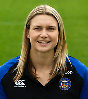 Kara Gonzalez of Bath Rugby poses for a portrait. Bath Rugby Media Day on August 14, 2018 at Farleigh House in Bath, England. Photo by: Patrick Khachfe / Onside Images
