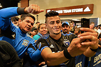 San Jose, CA - Saturday June 24, 2017: Darwin Ceren, fans during a Major League Soccer (MLS) match between the San Jose Earthquakes and Real Salt Lake at Avaya Stadium.