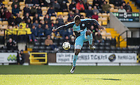 Aaron Pierre of Wycombe Wanderers controls the ball during the Sky Bet League 2 match between Notts County and Wycombe Wanderers at Meadow Lane, Nottingham, England on 28 March 2016. Photo by Andy Rowland.