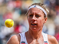 Paris, France, 27 May, 2019, Tennis, French Open, Roland Garros, Pauline Parmentier (NED)<br /> Photo: Henk Koster/tennisimages.com