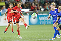 Portland, OR - Saturday July 30, 2016: Meleana Shim during a regular season National Women's Soccer League (NWSL) match between the Portland Thorns FC and Seattle Reign FC at Providence Park.