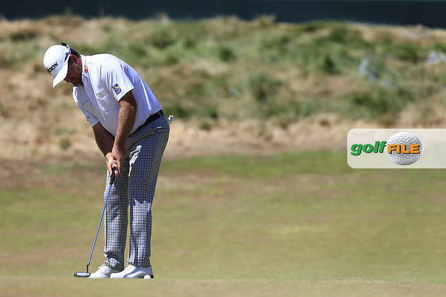 Graeme McDOWELL (NIR) putts on the 12th green during Wednesday's Practice Day of the 2015 U.S. Open 115th National Championship held at Chambers Bay, Seattle, Washington, USA. 6/17/2015.<br /> Picture: Golffile | Eoin Clarke<br /> <br /> <br /> <br /> <br /> All photo usage must carry mandatory copyright credit (&copy; Golffile | Eoin Clarke)