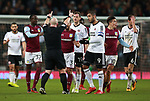 Referee Simon Hooper tries to control the players during the Championship match at Villa Park Stadium, Birmingham. Picture date 23rd December 2017. Picture credit should read: Simon Bellis/Sportimage