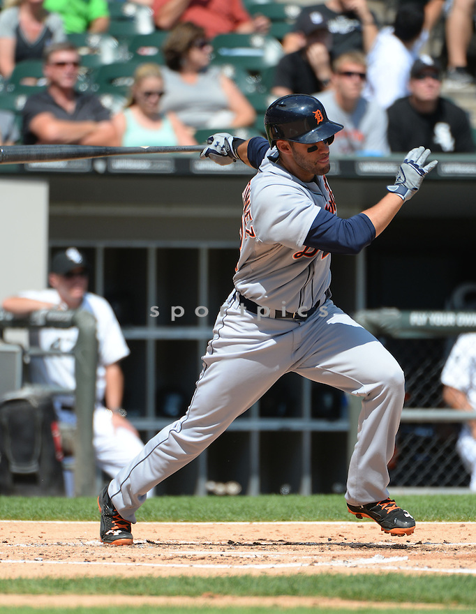 Detroit Tigers JD Martinez (28) during a game against the Chicago White Sox on August 31, 2014 at US Cellular Field in Chicago, IL. The Tigers beat the White Sox 8-4.