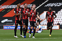 Jack Stacey of Bournemouth (17)  right scores and celebrates during AFC Bournemouth vs Blackburn Rovers, Sky Bet EFL Championship Football at the Vitality Stadium on 12th September 2020