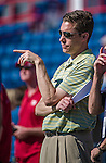 11 March 2014: Washington Nationals Senior Director of Baseball Information Communications John Dever watches batting practice prior to a Spring Training game against the New York Yankees at Space Coast Stadium in Viera, Florida. The Nationals defeated the Yankees 3-2 in Grapefruit League play. Mandatory Credit: Ed Wolfstein Photo *** RAW (NEF) Image File Available ***