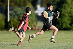 NELSON, NEW ZEALAND - July 4: Saturday morning kids rugby at Sports Park Motueka on July 4, 2015 in Nelson, New Zealand. (Photo by: Chris Symes Shuttersport Limited)