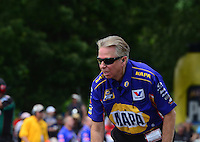 Jun. 2, 2012; Englishtown, NJ, USA: NHRA crew chief Rahn Tobler during qualifying for the Supernationals at Raceway Park. Mandatory Credit: Mark J. Rebilas-