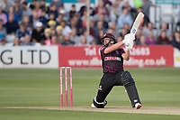 Roelof Van Der Merwe of Somerset CCC smears six runs over cover point during Essex Eagles vs Somerset, Vitality Blast T20 Cricket at The Cloudfm County Ground on 7th August 2019