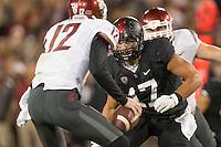 Stanford, CA -- October 10, 2014: Stanford plays Washington State at Stanford Stadium. Stanford defeated Washington State 34-17.