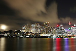 Sydney City Skyline at night from East Balmain . Sydney, Australia. Thursday 27th June  2013. Photo: (Steve Christo)